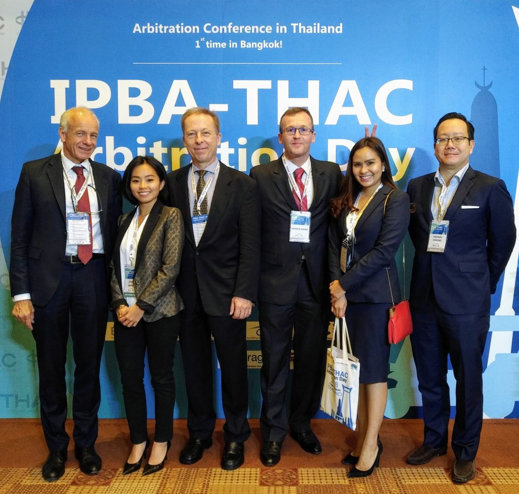 Group picture of attendees of the IPBA-THAC Arbitration Day in Bangkok on 6 November 2018