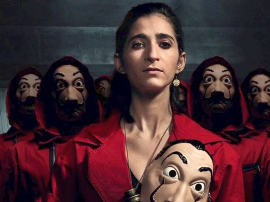 Alba Flores as Nairobi in Money Heist, the second-best TV series I watched in 2020.