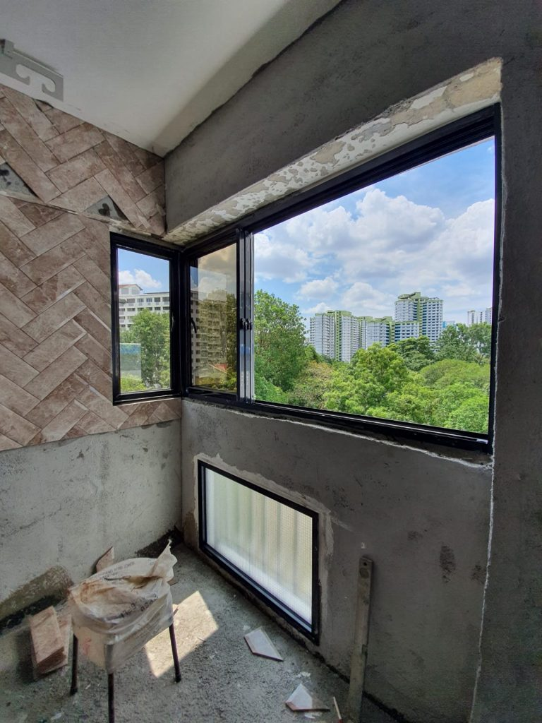 Renovating an HDB flat.