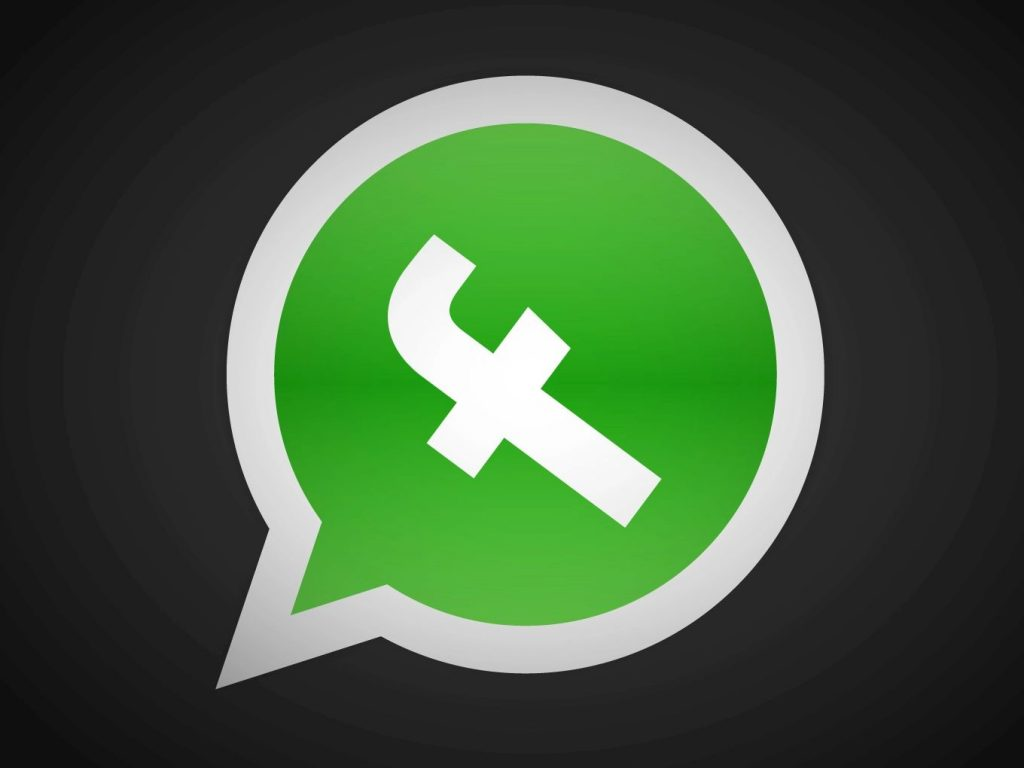 The WhatsApp logo with a Facebook F in it instead of the original phone receiver.